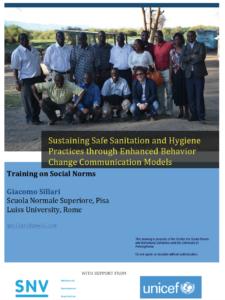Sustaining Safe Sanitation and Hygiene Practices through Enhanced Behavior Change Communication Models