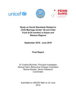 UNICEF-Mali: Normes sociales liées à Le mariage d'enfants